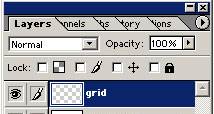 Selecting the Grid layer. Click for a bigger image.