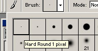 Paint Brush options. Click to see a bigger image