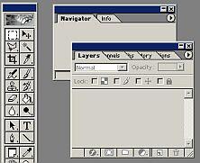 Tool Bar and Panels. Click for a bigger image.