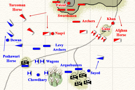 The Peshawar cavalry advances